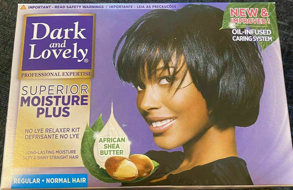 Dark and Lovely Superior Moisture Plus No-Lye Hair Relaxer Kit Super Regular UK