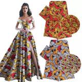 High Quality African Ankara Satin Silk & Chiffon Print 1 Yard Multicolour Fabric