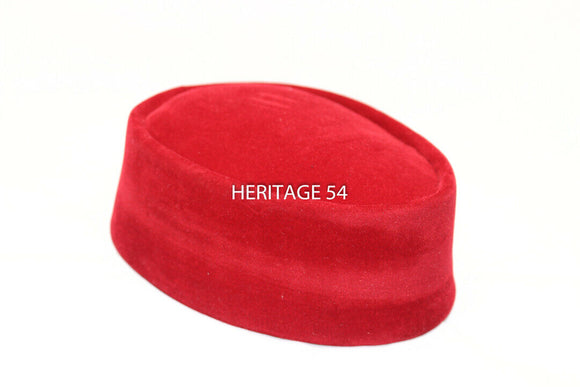 Ikemba Handmade African Men Igbo Traditional Cap Groomsmen Festival Red