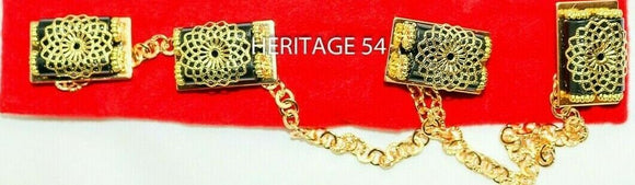 Igbo men Chain linked gold plated bottons for Isi agu top buttons 4 links isiagu