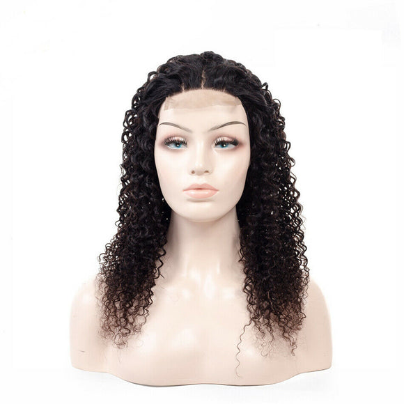 "Maya 14"" Natural Colour 1B Kinky Jerry Curl 4x4 Lace Brazilian Remy Human Hair"