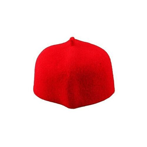 Ogbuefi Handmade Igbo Traditional Red Wool Cap Groomsmen Festival Coronation
