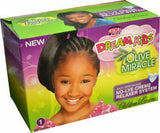 African Pride Dream Kids Olive Miracle Relaxer Kit Regular Coarse Afro Hair Care