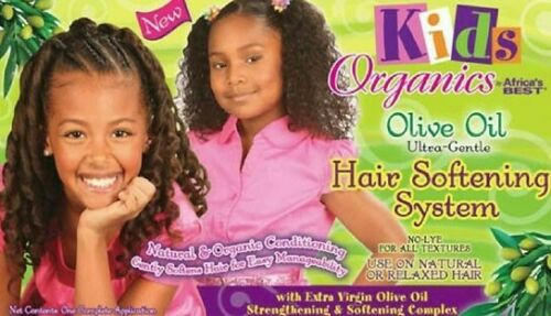 Africa's Best Kids Organics Gentle Olive Oil Hair Softening System Texturizer- Normal