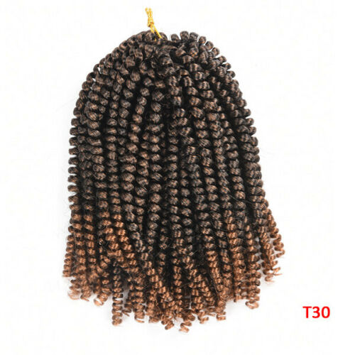 Spring Twist Fluffy Twist Crochet Hair Extension Braiding Bomb 30roots Dreadlock