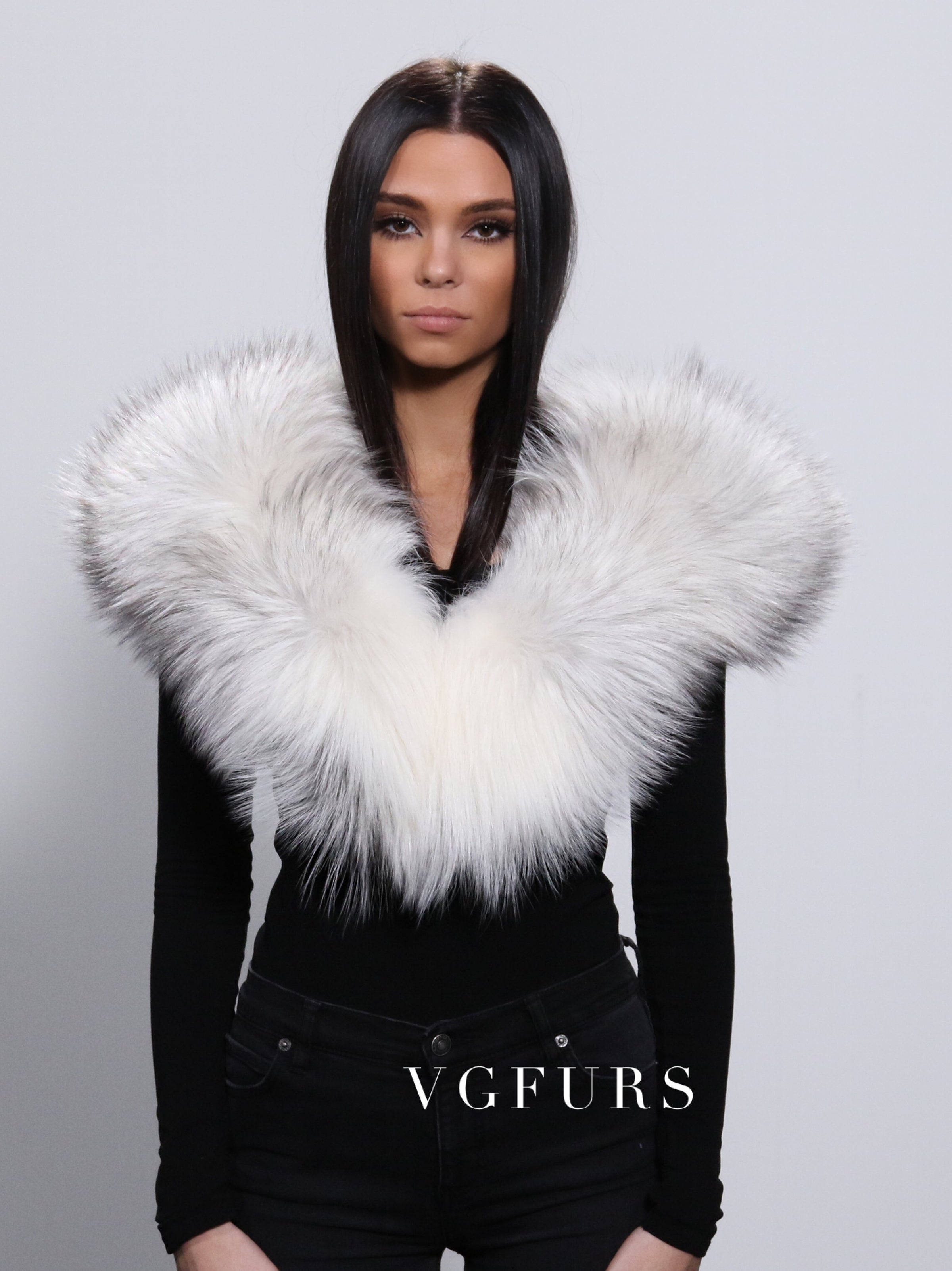 White Fur Stole >> Arctic Fox Scarf Collar Fox Fur Stole Cream White Vgfurs