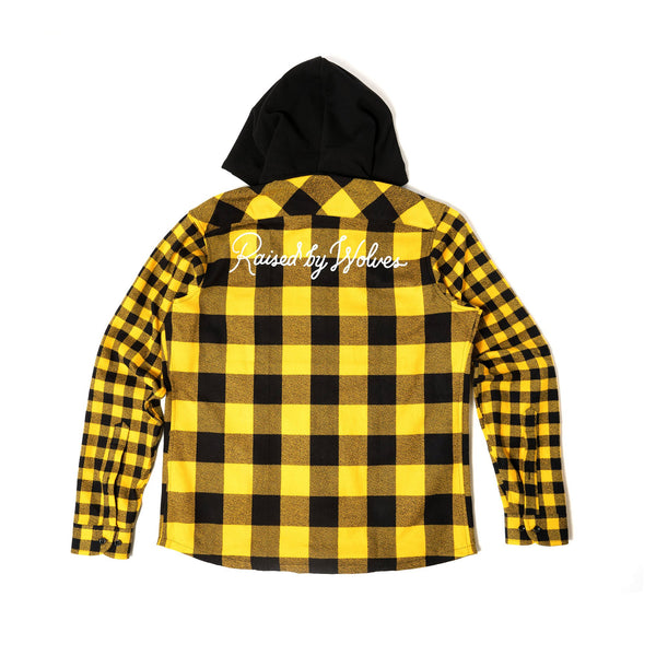 Chain Stitch Hooded Flannel Shirt