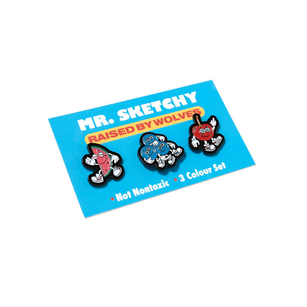 Mr. Sketchy Pin Set