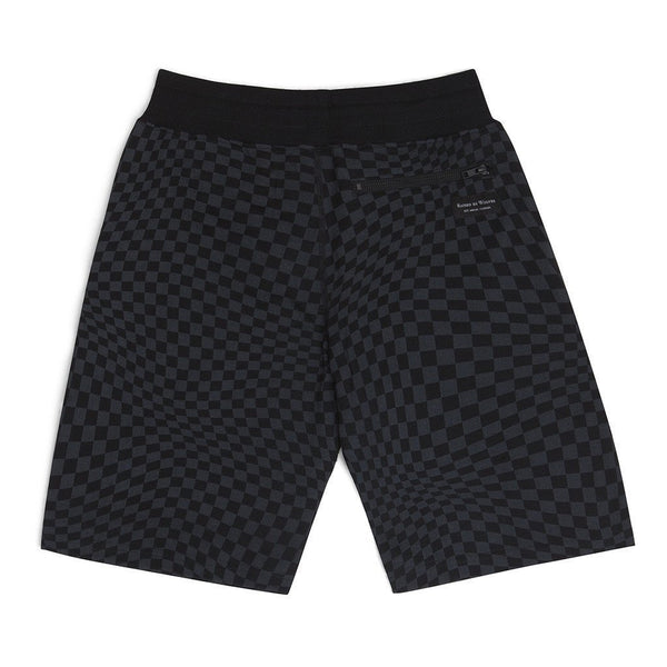 Warped Checkerboard Sweatshorts - Raised by Wolves  - 2