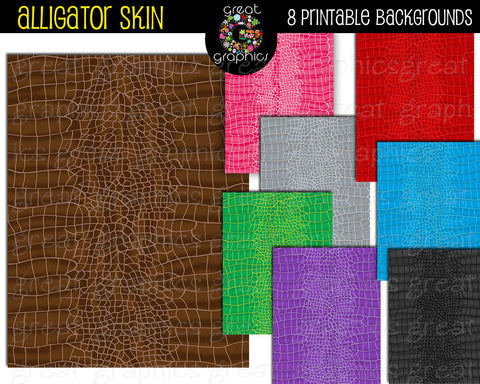 Alligator Digital Paper Alligator Skin Print Paper- Instant Download