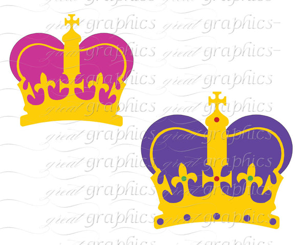 Mardi Gras Clip Art Crowns Mardi Gras Clipart Digital Clip Art, Mardi Gras Crown Clipart, Digital Mardi Gras, Instant Download