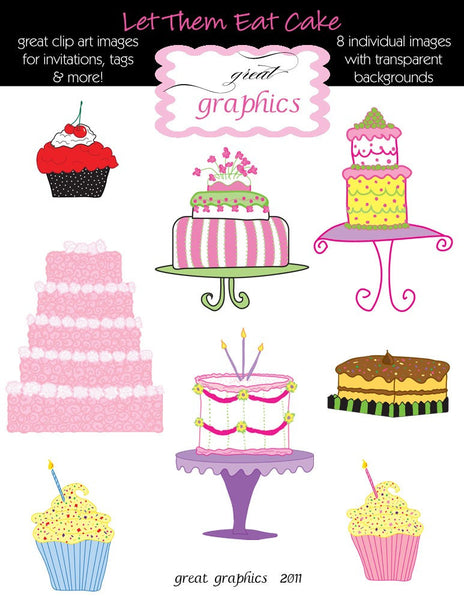 Cake Clipart Birthday Cake Clip Art Digital Cake Cupcake Clipart Clip Art Cupcake Digital Cupcake - Instant Download