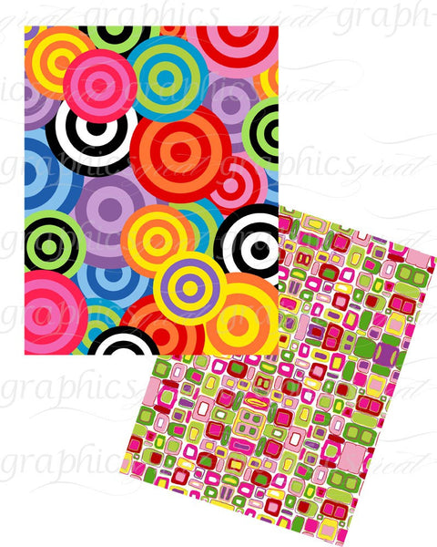 Retro Pattern Retro Paper Digital Paper Retro Printable Peace Sign 60s Party Paper Background Paper Instant Download