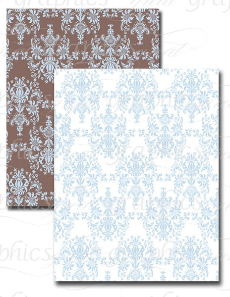 Digital Damask Paper Damask Printable Paper Damask Pattern Damask Digital Wedding Paper - Instant Download
