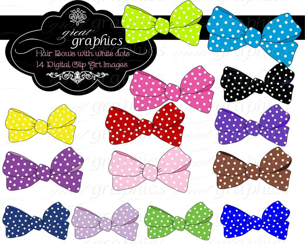 Bow Clip Art Clipart Bow Kids Clipart Party Clip Art Digital Printable Clip Art Girl Clipart Instant Download