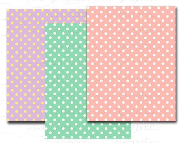 Polka Dot Paper Digital Paper Polka Dot Printables Digital Polka Dot Paper Polka Dot Background  Instant Download