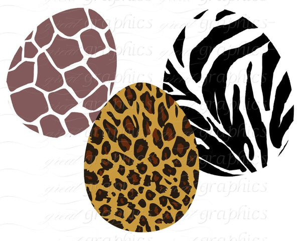 Animal Print Easter Egg Clip Art Easter Egg Digital Clipart - Instant Download
