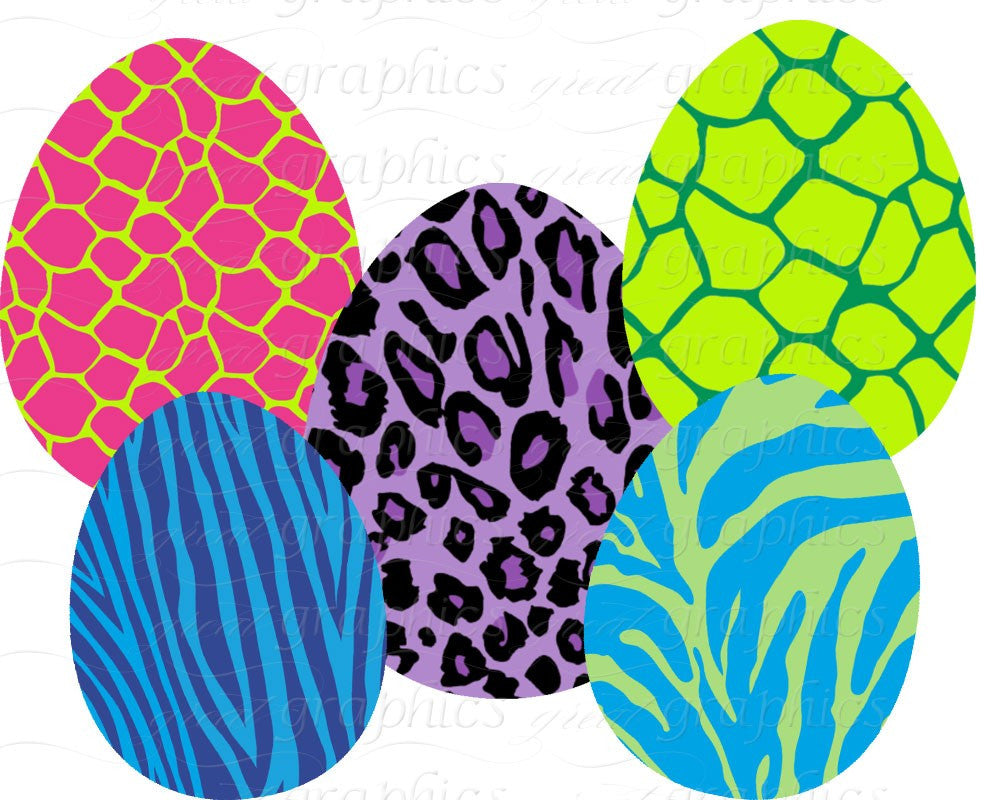 animal print easter egg clip art easter egg digital clipart rh greatgraphicsdesigns com wild animal print clipart animal paw print clipart