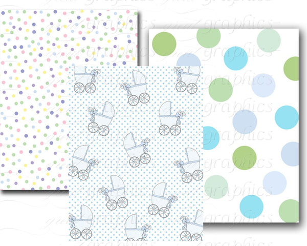 Baby Paper Baby Boy Baby Girl Baby Shower Paper Baby Digital Paper Printable Digital Baby Footprint Baby Print Paper - Instant Download