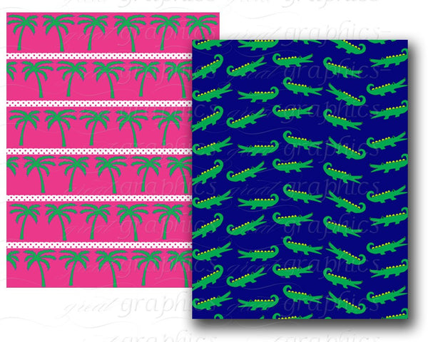 Preppy Paper Preppy Pink and Green Preppy Digital Paper Preppy Printable Background, Instant Download