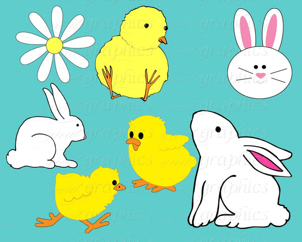 Easter Clip Art Easter Clipart Digital Easter Easter Bunny Clipart Easter Digital Easter Printable Instant Download