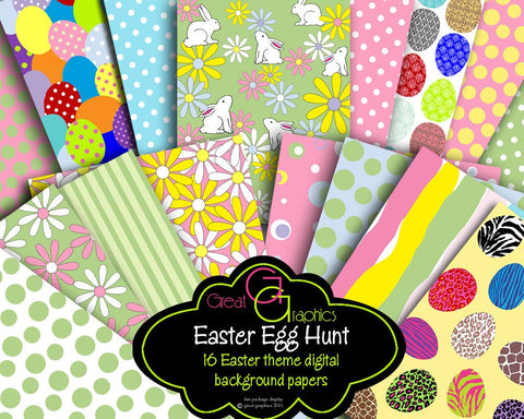 Easter Paper Digital Easter Digital Paper Printable Easter Party Paper Easter Background Instant Download