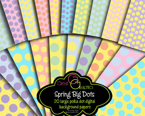 Pastel Polka Dot Digital Paper Pastel Digital Paper Polka Dot Printable Paper Spring Colors Party Paper Invitation Paper - Instant Download