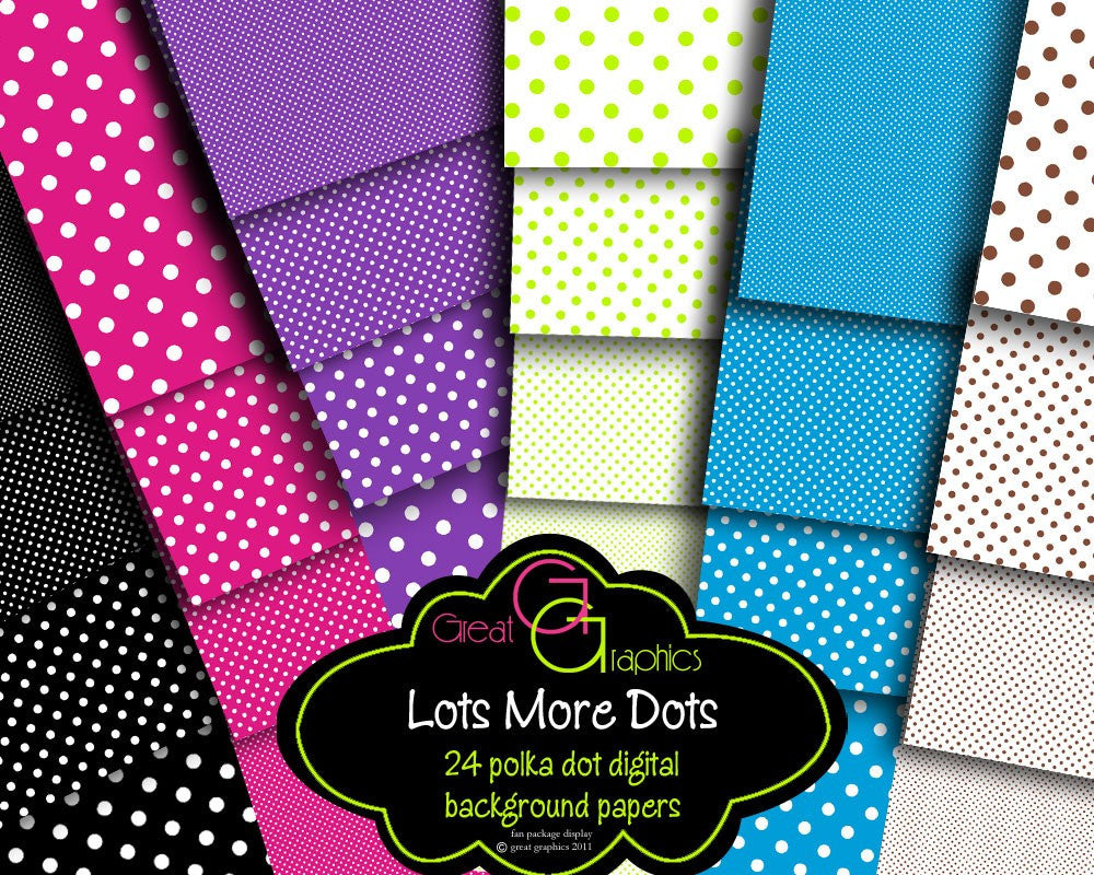Polka Dot Paper Digital Polka Dot Printable Invitation Paper Printable Polka Dot Digital Paper Scrapbook Paper - Instant Download