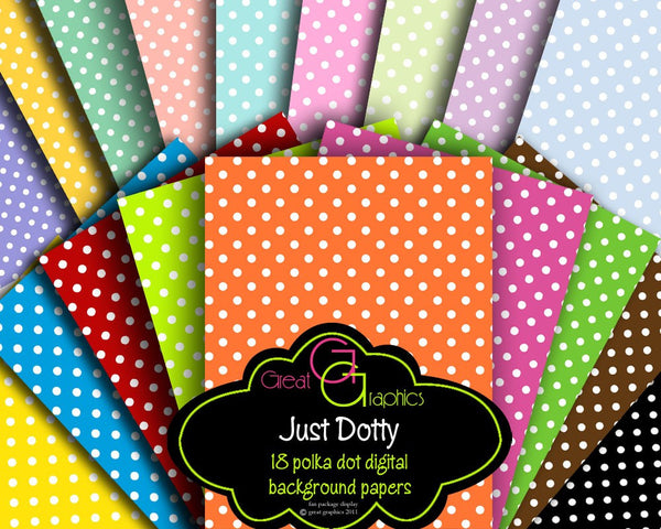 Polka Dot Paper Digital Polka Dot Paper Printable Polka Dots Polka Dot Party Paper Digital Paper - Instant Download