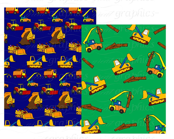 Construction Paper Construction Party Digital Paper Printable Kids Construction Party Background Truck - Instant Download