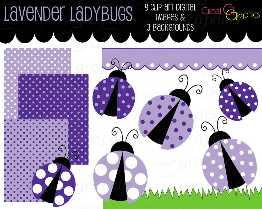 lavender ladybug clip art, Clip Art, digital clip art digital backgrounds ladybug clipart polka dots, lavender lady bugs