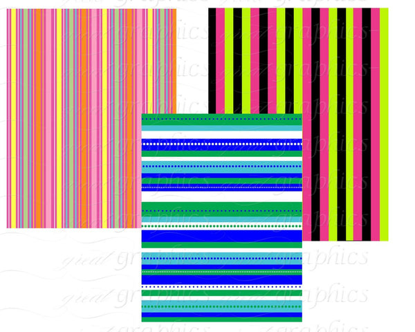 Stripe Paper Digital Paper Stripes Striped Paper Digital Printable Party Paper Invitation Paper - Instant Download