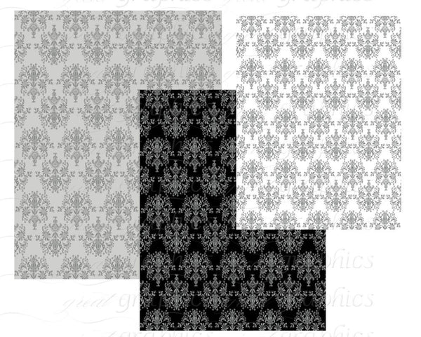 Damask Paper Damask Digital Paper Damask Background Digital Paper Digital Damask Pattern Instant Download