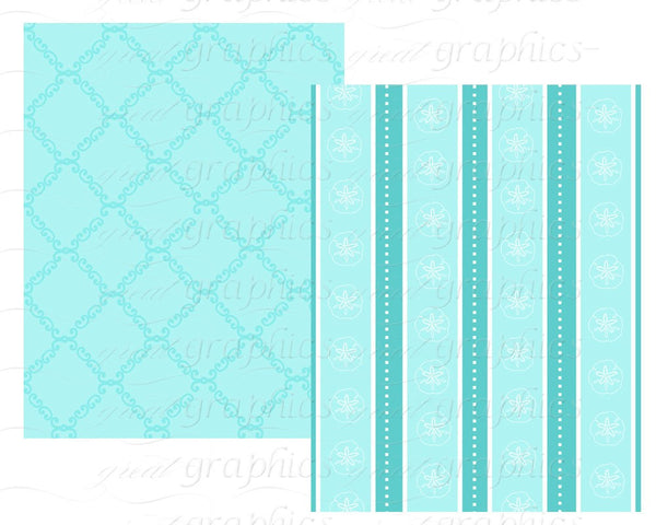 Tiffany Blue Wedding Paper Blue Paper Digital Paper Wedding Digital Printable Paper Blue Damask Printable Paper - Instant Download