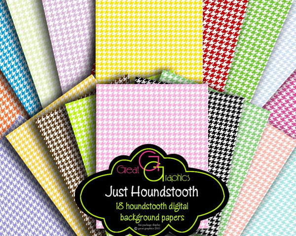 Houndstooth Digital Paper Pink Houndstooth Paper Digital Background Invitation Paper Instant Download