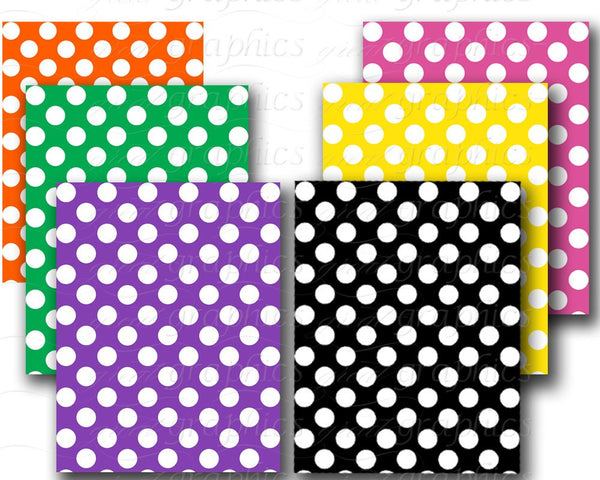 Polka Dot Paper Digital Polka Dot Paper Printable Polka Dots Digital Paper Polka Dot Background Instant Download