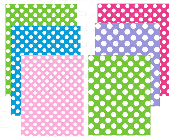 Polka Dot Paper Polka Dot Printables Digital Polka Dot Paper Pink and White Polka Dot Digital Paper Instant Download
