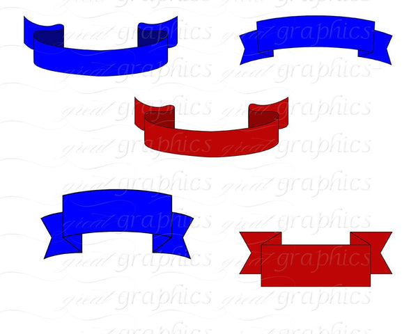 Banner Clip Art Banner Digital Clipart Award Ribbon Printable Digital Clip Art First Place Ribbon Digital Clipart - Instant Download