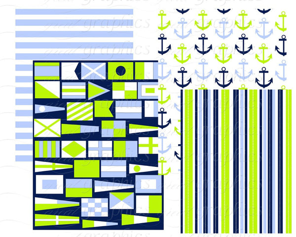 Nautical Paper Nautical Digital Paper Digital Paper Digital Nautical Nautical Printable Nautical Flag Instant Download