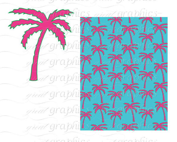Printable Preppy Paper Preppy Alligator Whale Palm Tree Clip Art Digital Paper Printable Clipart - Instant Download