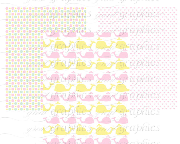 Baby Digital Paper Digital Baby Shower Printable Paper Preppy Baby Print Baby Party Paper- Instant Download