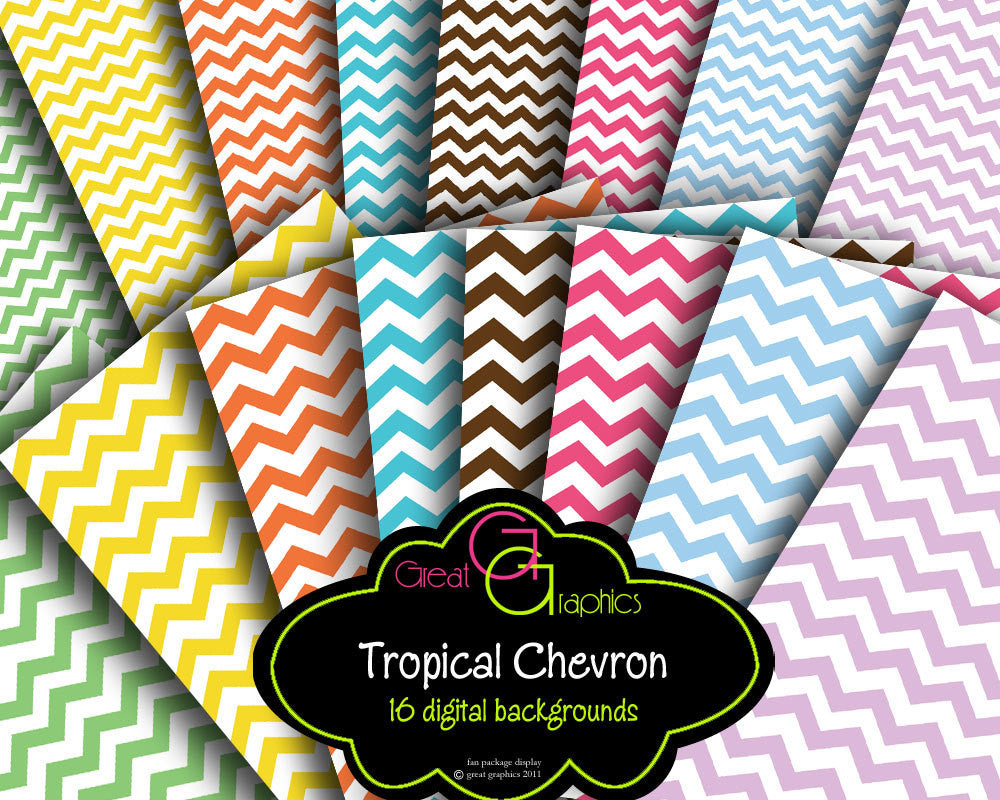 Chevron Paper Chevron Print Chevron Digital Paper Printable Chevron Party Paper Chevron Background Paper - Instant Download