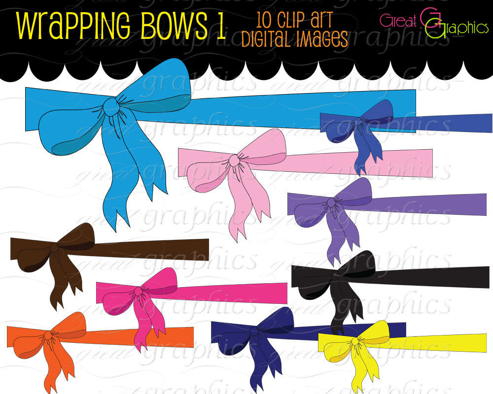 Digital Bow Clipart Present Bow Clip Art Bow Clipart Bow Printable Invitation Clip Art Instant Download