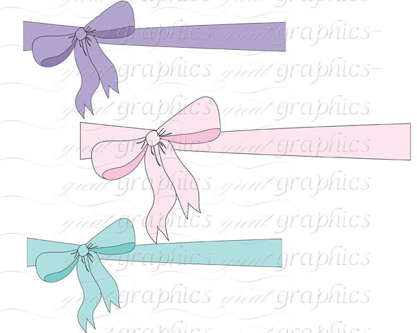 Baby Shower Printable Clip Art Bow Digital Clipart Bow for Baby Shower Invitation Party Decorations Printable Bow - Instant Download