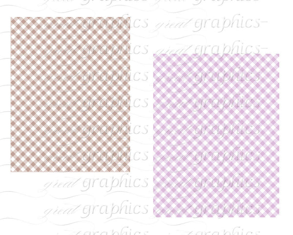 Gingham Digital Paper Baby Shower Paper Pastel Gingham Paper Digital Paper Printable Invitation Paper Gingham Paper - Instant Download
