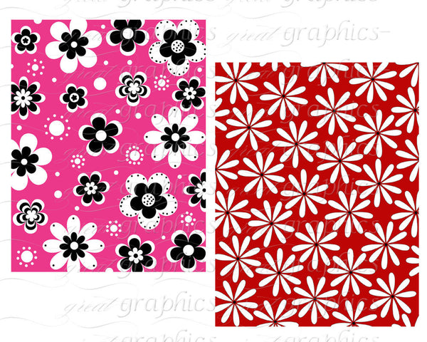 Flower Digital Paper Flower Paper Printable Digital Flower Background Digital Floral Paper Instant Download
