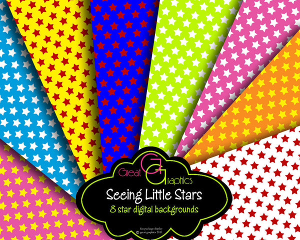 Star Paper Printable Party Paper Digital Invitation Paper DIY Star Background Stars Digital Paper - Instant Download