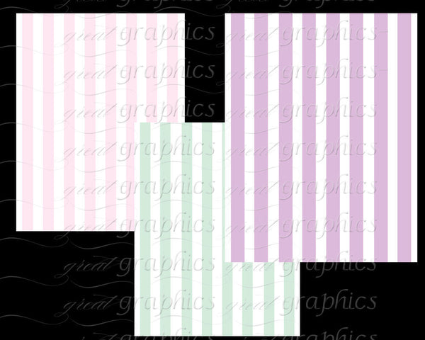 Stripe Paper Digital Striped Pastel Paper Background Paper Party Paper Baby Shower Paper Instant Download