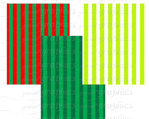 Christmas Background Holiday Digital Paper Christmas Stripe Printable Invitation Paper Christmas Photo Card Paper - Instant Download