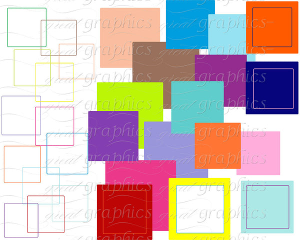 Square Frame Digital Clip Art Frame Clipart Digital Frame Invitation Clipart Party Clip Art Instant Download